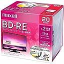 maxell 録画用 BD-RE 標準130分 2倍速 ワイドプリンタブルホワイト 20枚パック BEV25WPE.20S