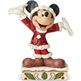 Enesco Disney Traditions by Jim Shore Mickey Mouse Christmas Personality Pose Figurine, 4.625 Inch, Multicolor