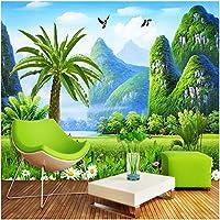 Xbwy 壁画壁紙3D自然風景壁画リビングルームテレビソファ背景-450X300Cm
