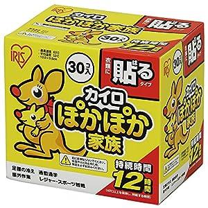 アイリスオーヤマ カイロ 貼る レギュラー 30個入 ぽかぽか家族 PKN-30HR