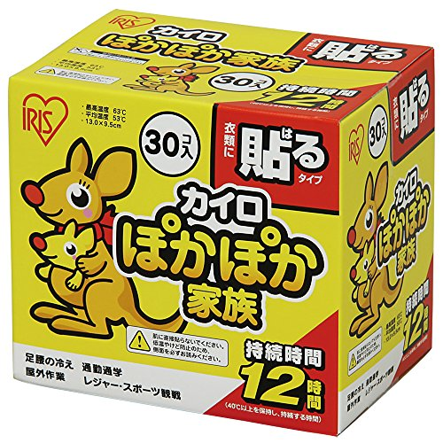 アイリスオーヤマ カイロ 貼る レギュラー 30個入 ぽかぽか家族
