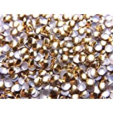【jewel】ラウンド型 (丸)メタルスタッズ 2mm ゴールド 約100粒入り