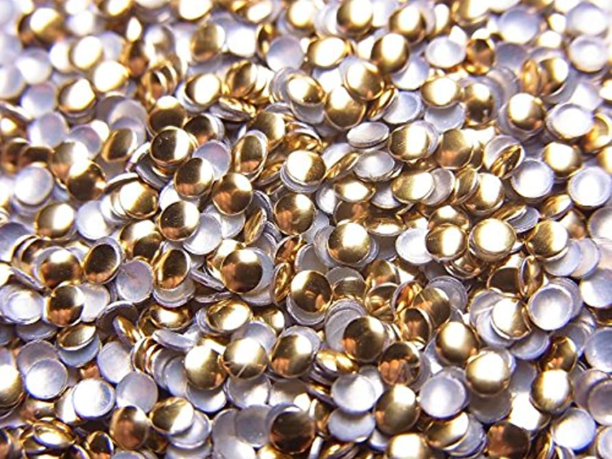 教え精巧な有名【jewel】ラウンド型 (丸)メタルスタッズ 2mm ゴールド 約100粒入り