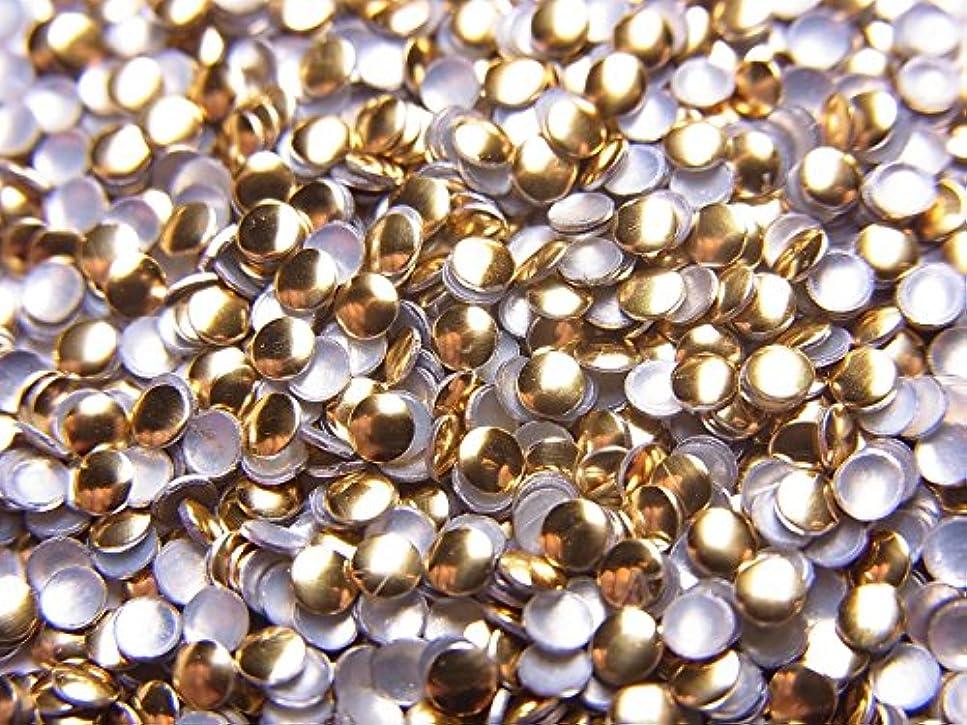 おじさんそっとクリア【jewel】ラウンド型 (丸)メタルスタッズ 2mm ゴールド 約100粒入り