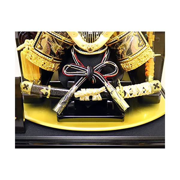 五月人形 兜ケース飾り ゴールドハヤブサ兜 間...の紹介画像7
