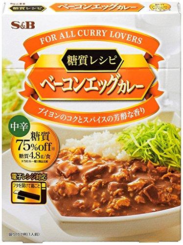 エスビー食品 S&B 糖質レシピ ベーコンエッグカレー 中辛 ×6個