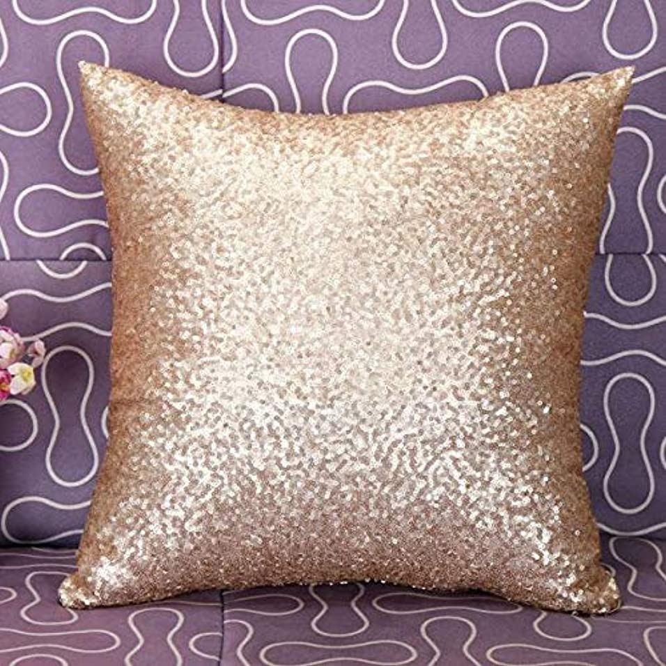 象地域の動的LIFE 枕カバー無地グリッターシルバースパンコールブリンブリンスローカフェ家の装飾クッション装飾 D1 クッション 椅子