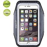 iPhone6アームバンドケース,EOTW iPhone6 / 6S 4.7インチ スポーツアームバンド ランニング スマホケース 生活防水 超軽量 キーポケット付 (黒(縁取り))