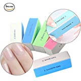 Nail Buffer Block, 4 Way Nail Art Shiner 4 Step Buffing - File, Remove,Smooth,Shine - Mini Natural Nail Polisher Sanding File