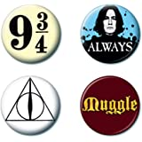 """Ata-Boy Harry Potter Favorites Assortment #2 Set of 4 1.25"""" Collectible Buttons"""