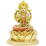BangBangDa Hindu Goddess Laxmi Statue Sculpture – Indian God Lord Mather Lakshmi Puja Statue - India Pooja Item Murti Idol Fi
