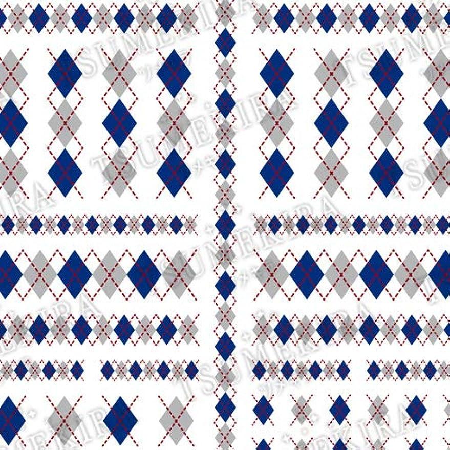 東スクワイア求めるTSUMEKIRA(ツメキラ) ネイルシール アーガイル blue NN-ARG-102 1枚