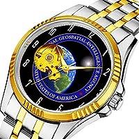 時計、機械式時計 メンズウォッチクラシックスタイルのメカニカルウォッチスケルトンステンレススチールタイムレスデザインメカニ (ゴールド)-865. NGA