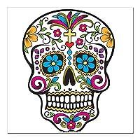 CafePress–Day of the Dead Sugar Skullハロウィン、正方形車–Squareカーマグネット、磁気バンパーステッカー Large - 5x5 0957151222D45F5
