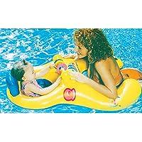 Doremy 赤ちゃんとママのプールボート、親子プールのフロートセーフシートのインフレータブルスイムリング夏の遊泳泳ぎトレーナー