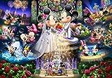 1000ピース ジグソーパズル ステンドアート ディズニー 永遠の誓い~ウエディング ドリーム~(51.2x73.7cm)