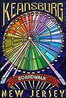 Keansburg、新しいジャージー–Boardwalk観覧車 16 x 24 Giclee Print LANT-69693-16x24
