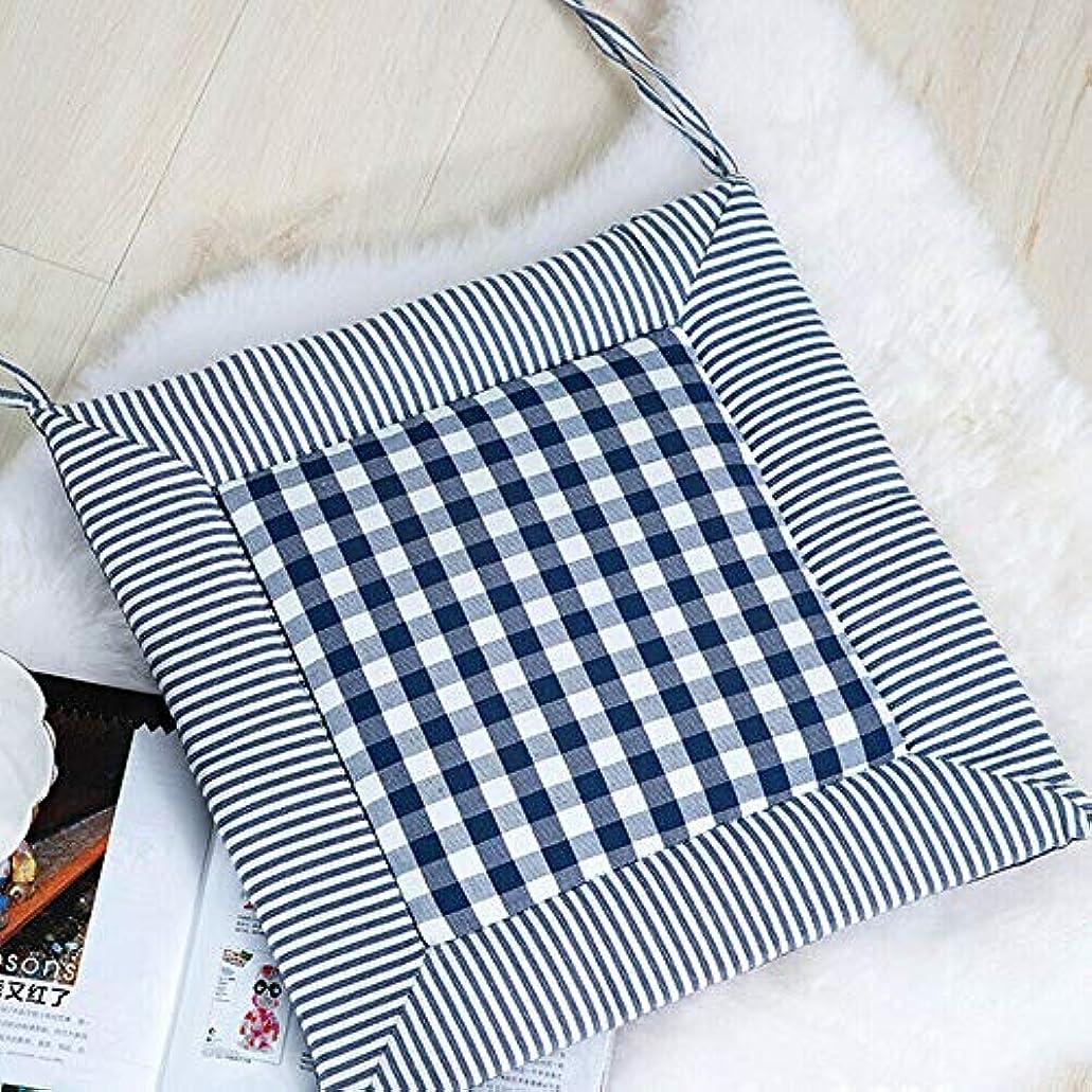 寝てる目立つソートLIFE 椅子クッション厚手のチェック柄ソフトパッド屋外パティオ裏庭ガーデンラウンジシートパディング クッション 椅子