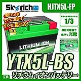 スカイリッチ:リチウムイオンバッテリー アドレスV100 (CE13A)用 【GSユアサ:YTX5L-BS互換】【HJTX5L-FP-SI】