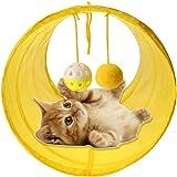 猫トンネル キャットトンネル 猫おもちゃ 折りたたみ式 ペットトンネル トンネル玩具 収納便利 猫玩具 ネコ用品 猫ペッ…