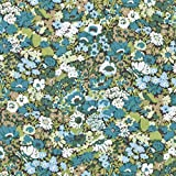 LIBERTY ソープ タナローン生地 全3色 リバティプリント 花柄 生地 布 (グリーン)