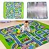 Yiteng キッズ ラグ カーペット マット 子供部屋 プレイマット 道路 ロードマップ 地図マップ 赤ちゃん 知育玩具 ベビー 知育 フロアマット 滑り止め 130cm*160cm*0.5cm