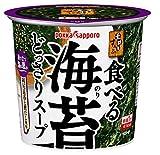 ポッカサッポロ 素材屋すうぷ 食べる海苔 どっさりスープ カップ×6個
