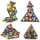 Dolland 磁石棒 マグネット玩具 多彩 幾何学認知 立体パズル 積み木 磁石おもちゃ 創造力と想像力を育てる 知育・学習玩具モデル DIY 103点セット 児童 子供 入園祝い 創意プレゼント
