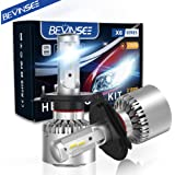 Bevinsee H4 9003 LED Headlights White Bulbs Kit 10000LM 6000K 60W,2pcs