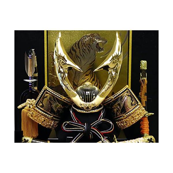 五月人形 兜ケース飾り ゴールドハヤブサ兜 間...の紹介画像3
