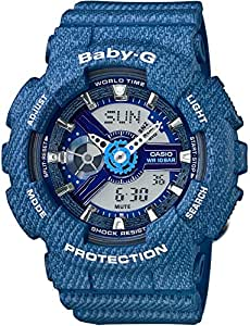 [カシオ]CASIO 腕時計 BABY-G DENIM'D COLOR BA-110DC-2A2JF レディース