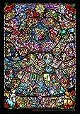 266ピース ジグソーパズル ディズニー&ディズニー/ピクサー ヒロインコレクション ステンドグラス ぎゅっとシリーズ 【ピュアホワイト】 (18.2x25.7cm)
