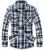 (ラロリオン)RAROLION ギンガムチェック ネルシャツ 長袖 メンズ(薄緑 L)