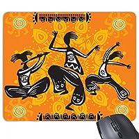 ダンスメキシコトーテムのメキシコ人 長方形のノンスリップゴムパッドのゲームマウスパッドプレゼント