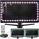 Power Practical Luminoodle Professional Bias Lighting - 15 Colors + 6500K True White LED TV Backlight | Adhesive RGB+W Strip