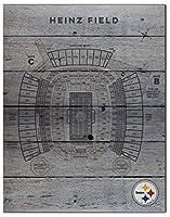 KH Sports Fan 16インチ x 20インチ ピッツバーグ・スティーラーズ シーティングチャート NFL パレット プライド 飾り板