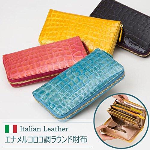 【カラー:ピンク】イタリア革 財布 メンズ レディース ラウ...