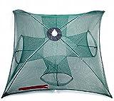 【Rurumi】折り畳み式 仕掛け網 四手網 ウナギ アナゴ 魚 エビ カニ タコ 大漁 捕穫 網