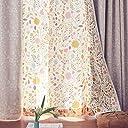 ベルメゾン UVカット 遮熱 遮像レースカーテン 夏の草原 幅×丈(cm):約100×183(2枚)