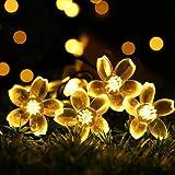 Cshare ソーラー LED ストリングライト ガーデン ソーラーライト LED イルミネーションライト 50LED 7M IP65防水 8モード 夜間自動点灯 クリスマス/ハロウィン/パーティー/バレンタインデー/新年/祝日/結婚式/学園祭屋外/