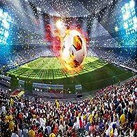 Xueshao 写真の壁紙3D立体サッカーフィールドサッカー大壁画の壁紙壁画寝室のリビングルームの家の装飾-150X120Cm