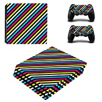 Zhhlinyuan スキンステッカー Vinyl Decal Cover for PlayStatio PS4 Pro Console+Controllers ZY0055#