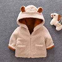 2019 Winter Faux Fur Newborn Boy Girls Jackets Beige Baby Coats Clothes Kids Coat Warm Jacket Children Clothing Outerwear