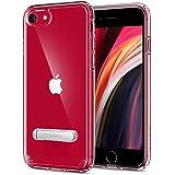 【Spigen】 iPhone SE ケース [第2世代] / iPhone8 / iPhone7 対応 新型 全面 クリア キックスタンド機能 米軍MIL規格取得 SE2 アイフォンSE (2020年モデル) アイフォン8 アイフォン7 カバー シュピゲン ウルトラ・ハイブリッドS 054CS22213 (クリスタル・クリア)