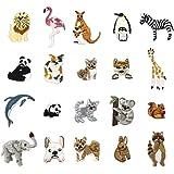 20枚セット アイロンワッペン 動物 刺繍 小さな アイロン接着 可愛い 刺繍ワッ ペン キャラクターワッペン 幼稚園 保育園 アップリケお祝いギフト