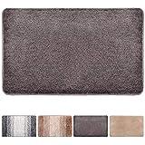 """Julone Indoor Doormat No Odor Non Slip Rubber Backing Super Absorbent Mud and Water Door Mats Inside Entrance Floor Rugs Pet Mat Machine Washable Carpet - Chocolate, 20"""" x 31.5"""""""