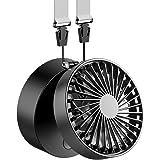 EasyAcc USB扇風機 首掛け扇風機 携帯扇風機 折り畳み式 2600mAhバッテリー 角度調節可能 携帯&卓上両用 両手解放 ミニファン 超静音 超強力 手のひらサイズ mini 小型 3段階調節 暑さ対策 BBQ スポーツ観戦 アウトドア
