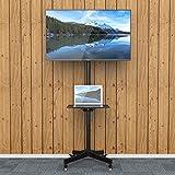 1homefurnit液晶テレビスタンド 壁寄せテレビスタンド 23-55インチ対応 棚付き キャスター付き ハイタイプ ディスプレイスタンド 移動式