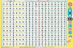 なるほどkids はっておぼえる小学3年でならう200字の漢字表 (お風呂 ポスター 教材)