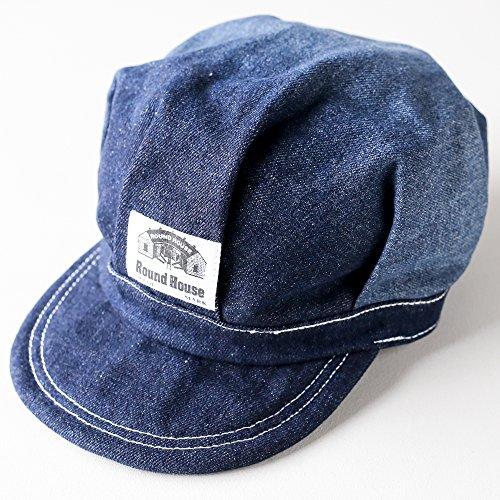 ROUND HOUSE (ラウンドハウス) レイルロードキャップ ワークキャップ 帽子 キャスケット キャップ メンズ レディース キャップ アメカジ 大きい DENIME デニム <ネイビー>